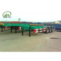 Buy cheap 40ft Length Skeleton Semi Trailer HCL / LPG Tanker Container Transporter from wholesalers