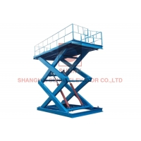 China 5000kg Capacity Stationary Hydraulic Electric Scissor Lift Tables / Scissor Lifts on sale