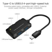 Buy 4 Ports USB C Hub USB Type C Hub with 4 USB-A 3.0 Ports for Smart Sync / Charge at wholesale prices