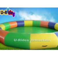 Quality Colorful Large Blow Up Swimming Pools Security Professional With Single Tube for sale