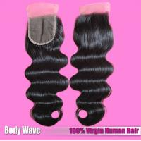 Quality Factory Wholesaler 100% Human Hair Extension Brazilian Hair Natural Color Lace Closure for sale