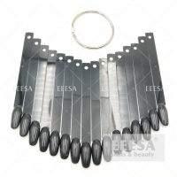 Quality Black Fan Desing False Nails Round Art Tips Stick Display Practice Nail Tip for sale