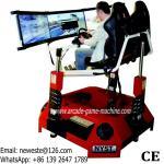 NYST Amusement Equipment Adults Arcade Games 3 Screens 3D Video VR Simulator Drive Car Racing Game Machine