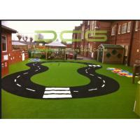 Quality Garden Backyard Green Synthetic Playground Turf High Density UV Resistance for sale