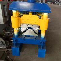 China Cold Roll  Metal Roof Ridge Cap Forming Machine Hydraulic Cutting Type on sale