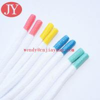 Quality Wholesale multi colors moulded tip private size ice hockey shoelace tape yeezy for sale