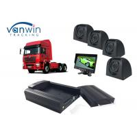 Quality Taxi CCTV Wifi Bus 4 Camera Car DVR 4CH 3G Live Video Tracking with GPS for sale