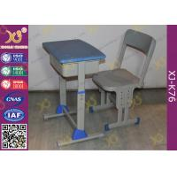 Quality Adjustable School Desk And Chair With Colorful Plastic Seat 5 Years Warranty for sale