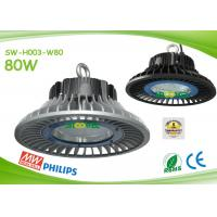 Quality IP65 80watts LED industrial lamps round UFO design AC90 - 295V input for sale