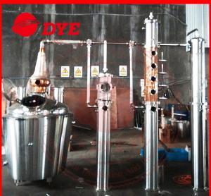Quality Copper alcohol still distiller,distillation equipment for making brandy,rum for sale