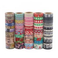 Quality Cute Fabric Patterned Washi Tape Strong Adhesion Scrapbook Gift Wrapping for sale