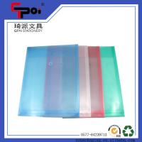 Quality Customized PP Stationery A4 Size Print Plastic Envelope With String Closure File Bag for sale