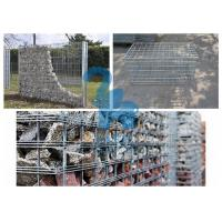 Quality Galvanized Surface Gabion Wall Baskets , Φ5mm Wire Stone Cages For Retaining Walls for sale