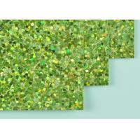 Quality 12*12 Inch Size Light Green Glitter Paper DIY Glitter Paper With Woven Backing for sale