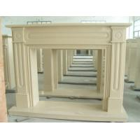 Quality Cream Yellow Marble Fireplace, Elegant Marble Fireplace for sale