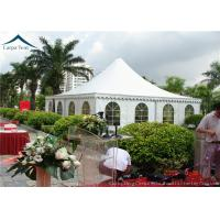 Quality Arabic Style White PVC Pagoda Tents  White Outdoor Tent Over 200 People for sale