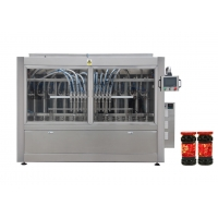Quality 1500ml Auto Piston Hot Sauce Mayonnaise Filling Machine With Lubrication System for sale