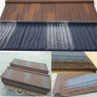 Quality CE Stone Chip Coated Metal Roof Tiles size 1340*420mm environment friendly for sale