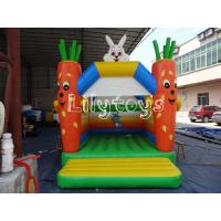 Quality rabbit radish Yard inflatable bouncer castle EN15649 / EN14960 for sale