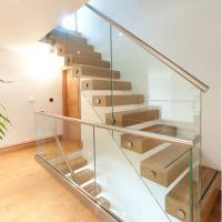 Quality Side Mounted Tempered Glass Stainless Steel Standoff Stair Railing for sale