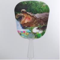 Buy Custom Printed 0.6mm PET 3D Lenticular Hand Fans / 3D Lenticular Printing at wholesale prices