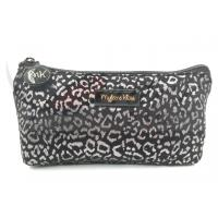 """Quality Silver Leopard Zipper Cosmetic Bags , Small Cosmetic Pouch 9""""X4.5""""X1.5"""" for sale"""