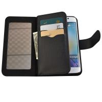 China samsung S6 edge with mirror smartphone case,6 card slots case for samsung s6 edge on sale