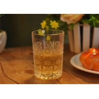 Quality Sun Flower Design Water Glass Tumbler for Juice , small whiskey glass for sale