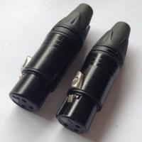 Buy Cadmium Plating XLR Female Cable Connector 3 Pole Female Connector at wholesale prices