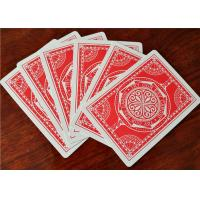 Quality OEM Logo Printed Casino Grade Playing Cards , Bar Code Plastic Quality Poker Cards for sale