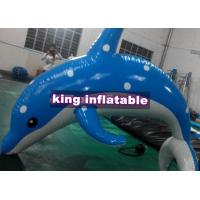 Quality Heat Sealed 3m Inflatable Dolphin Water Toy With CE UL SGS Approved for sale