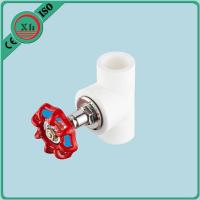 Quality OEM / ODM PPR Stop Valve Heat Preservation With Red Metal Hand Wheel for sale