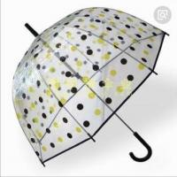 Quality Transparent See Through Umbrella , Windproof Clear Plastic Dome Umbrella Printed for sale
