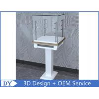 Quality 3D Design Modern Wooden Tempered Glass Jewelry Display Case For Shopping Mall for sale