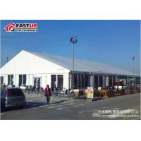 Quality White PVC Luxury Wedding Tents With Plastic / Steel Chairs A Frame Shape for sale
