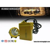 China 3.7V li-ion battery 25000lux rechargeable miners cap lights with cable indicator LED on sale