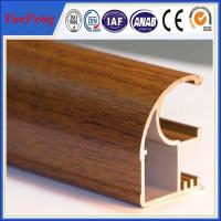 Buy cheap Wood finished aluminum extrusion profiles,aluminum window frames price for South from wholesalers