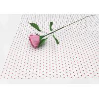 Quality 17gsm Waxed Wrapping Dotted Tissue Paper Foil Tissue Paper Sheets Metallic Red Dot Pattern for sale