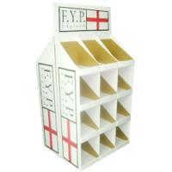 China Custom PDQ Floor Corrugated Cardboard Counter Displays Cases Cardboard Counter Display Box on sale