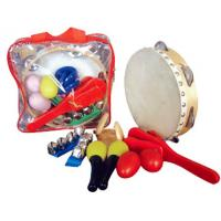 Quality Custom Orff Kids Musical Instrument With Plastic Bag 6 Pieces Wood Percussion Set for sale