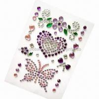 Quality Gem 3D stickers for cell phone decoration for sale