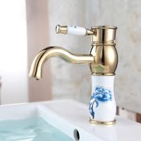 Quality Retro Vessel Sink Faucets Golden Commercial Kitchen Faucets Classical Style for sale