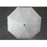 Quality 21 Inch Fully Automatic Windproof Folding Umbrella Small Polka Dot Printed for sale