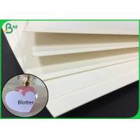 Quality 0.7MM White Color Coaster Board For Making Fragrance Blotter for sale