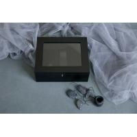 Buy Pine Wooden Photo Album Box Black Color With Lacquer For Usb Driver at wholesale prices