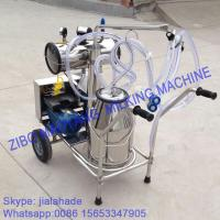 Quality Vacuum Pump Typed Single Bucket Mobile Milking Machine for sale