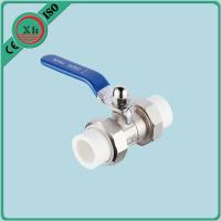 Quality Heat Preservation Ppr Double Union Ball Valve Corrosion Resistant Fusion Welding for sale