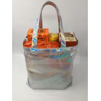 Buy Fashionable Silver Holographic Bag , Laser PU Hologram Shopper Bag Special at wholesale prices