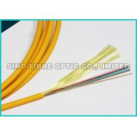 Quality 10G Data 12 Cores Flat Fiber Optic Ribbon Cable LSZH Rated Jacket for sale