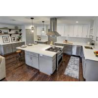 Quality White Quartz Countertops With Aqua And Brown Flecks kitchen countertops for sale
